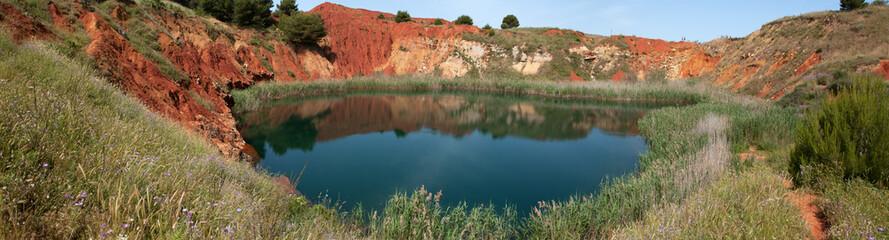 panoramica cava bauxite