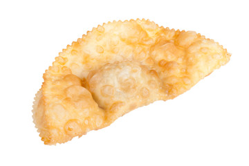 cheburek stuffed isolated on white background