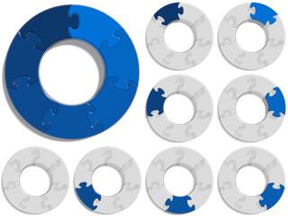 Circle Puzzle 07 - Blue