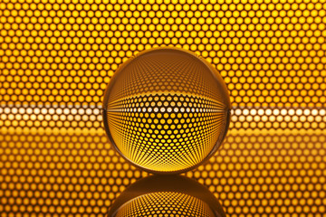 Abstract background with glass ball