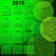Green calendar for 2015