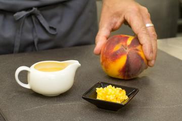peach sauce  made with fresh peach fruit