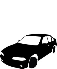 Silhouette of black Car vector