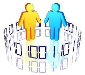 Chatroom, Forum - Nutzergruppe im Internet