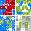 Zdjęcia na płótnie, fototapety, obrazy : Medical sticker infographic