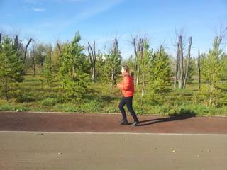 Бег осенью