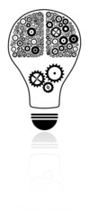 Idea Light Bulb With Brain Concept