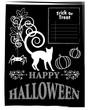 Obrazy na płótnie, fototapety, zdjęcia, fotoobrazy drukowane : Halloween blackboard