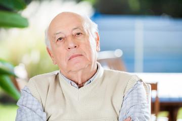 Portrait Of Serious Senior Man