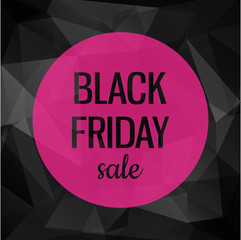 Sale poster with black geometric background