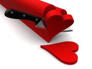 slicing hearts