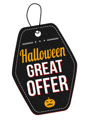 Halloween great offer label or price tag