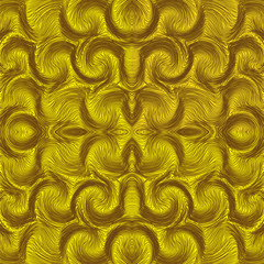 Seamless  pattern with rows of wavy elementss
