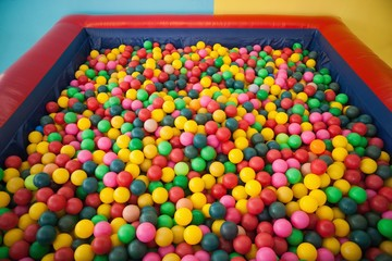 High angle view of ball pool