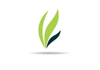 green nature leaf logo vector