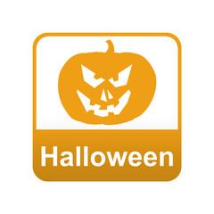 Etiqueta app abajo Halloween con calabaza