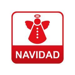 Etiqueta app abajo NAVIDAD con angel