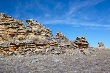 Plush Rocks near Baikal lake
