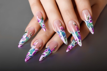 Female nails design.