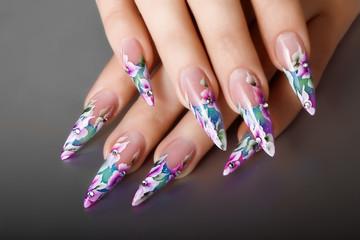 Female nails design.