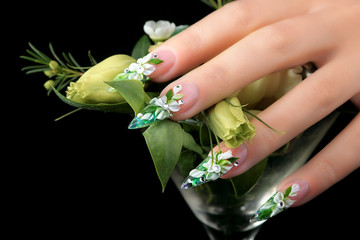 Design female nails.