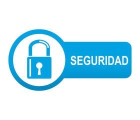Etiqueta app lateral azul SEGURIDAD