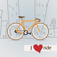 City bicycle. Vector.