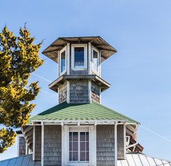 Cupola of Wood and Green Shingles