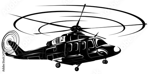 helicopter1-bw - 71683506