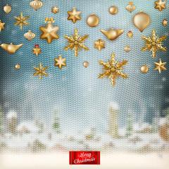 Christmas knitted holidays background. EPS 10