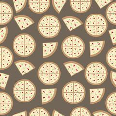 pizza seamless pattern background