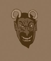 Devil face vintage