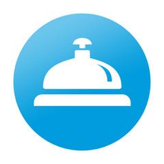 Etiqueta tipo app redonda timbre de hotel