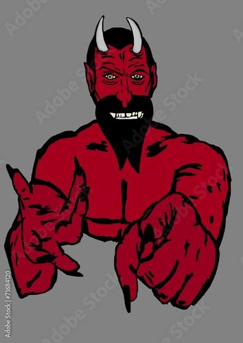 canvas print picture Devil wants you