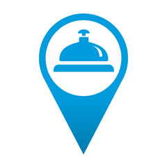 Icono localizacion simbolo timbre de hotel