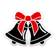 Pegatina simbolo campanas de navidad