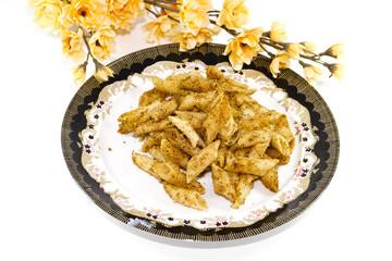 Frisch Panierte und gebackene Nudel