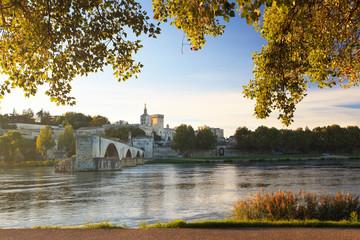 Avignon Bridge with Pope's Palace, Provence, France