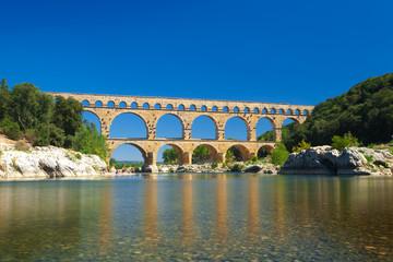Pont du Gard bridge old Roman aqueduct near Nimes