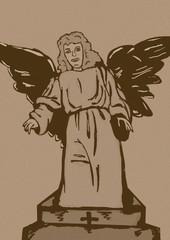 Cemetery angel vintage
