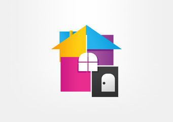 House box abstarc real estate symbol, logo, icon