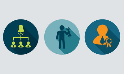 Human resources and management vector concept.Set icons1.
