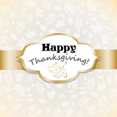 Vector background Thanksgiving Day
