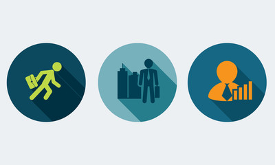 Human resources and management vector concept.Set icons 6.