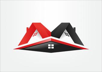 icon house real estate build, symbol logo