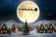 Composite image of cute christmas village - 71686107