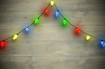 Composite image of arch shape of christmas lights