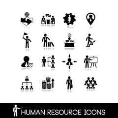 Human resource and management icons.Set vectors 14.