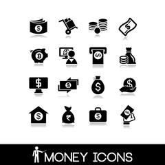 Money & banking  icons set 6.
