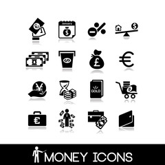 Money & banking  icons set 21.
